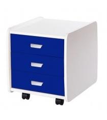 Тумба Астек Лидер 3 ящика с цветными фасадами синий