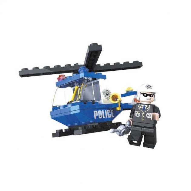 Пластиковый конструктор полицейский вертолет 47 деталей Ausini Г35843