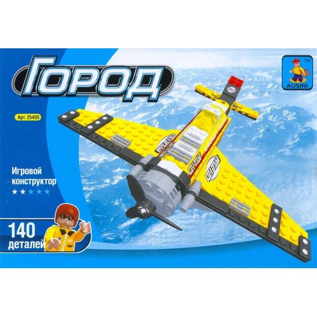 Конструктор город самолет 140 деталей Ausini Г54857