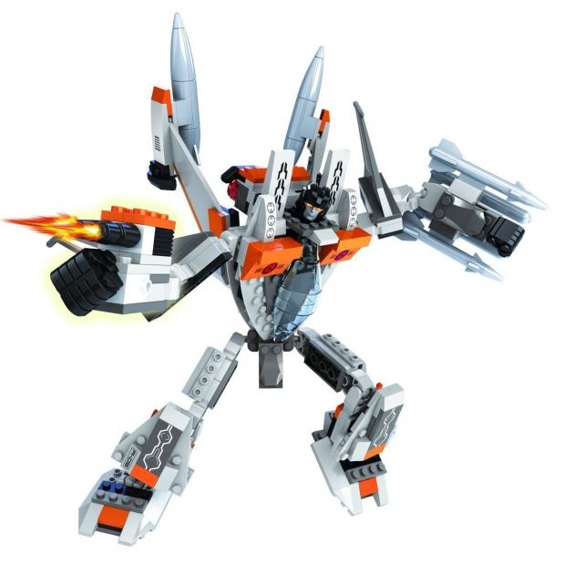 Конструктор 2 в 1 капитан робот самолет 329 деталей Ausini Г79553
