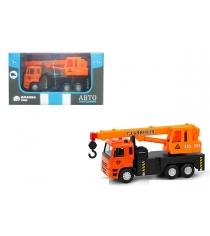 Машинка металлическая кран оранжевая Автопанорама 1200085