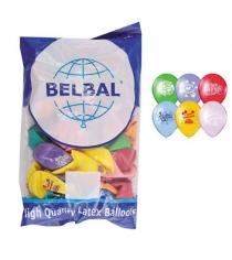 Набор воздушных шаров с днем рождения 36 см 50 шт Belbal 1103-0127