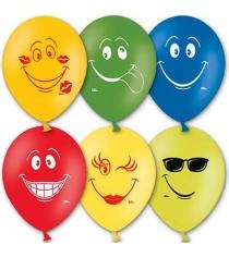 Набор воздушных шаров улыбка 36 см 50 шт Belbal 1103-0424