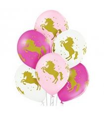 Набор шаров шелкография пастель единорог 25 штук Belbal Р95671