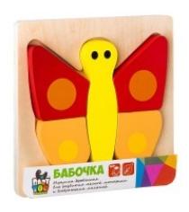 Игра деревянная Bondibon пазл бабочка вв2192