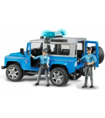 Полицейский джип Bruder Land Rover Defender Station Wagonс фигуркой и полицейского 02-597 + 60-050
