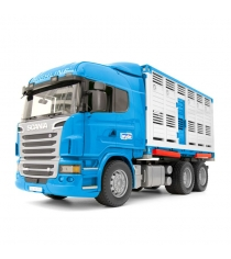 Фургон scania для перевозки животных с коровой Bruder 03-549
