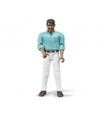 Мужчина мексиканец в белых джинсах Bruder 60-003