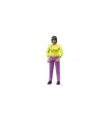 Фигурка женщины розовые джинсы Bruder 60-403