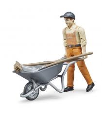 Фигурка работника коммунальной службы с аксессуарами Bruder 62-130