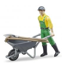 Фигурка фермера с тележкой и аксессуарами Bruder 62-610