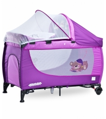 Манеж-кровать Caretero Grande Purple фиолетовый TERO-352