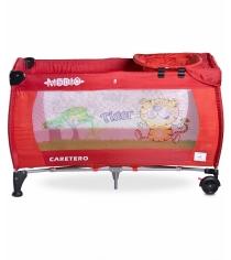 Манеж-кровать Caretero Medio Classic Red красный TERO-3834