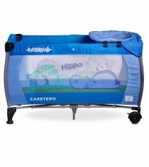 Манеж-кровать Caretero Medio Classic Blue синий TERO-3835