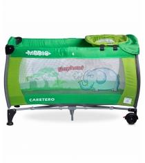 Манеж-кровать Caretero Medio Classic Green зеленый TERO-3836