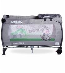 Манеж-кровать Caretero Medio Classic Grey серый TERO-3837