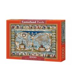 Пазл средневековая карта мира 2000 деталей Castorland Р95105...