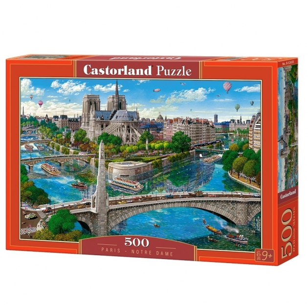 Пазл париж нотр дам 500 элементов Castorland Р87493
