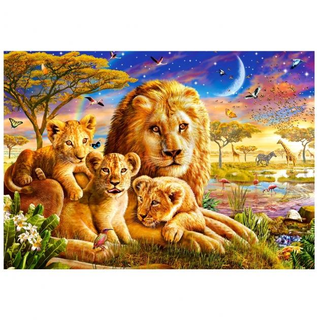 Пазл семья львов 500 элементов Castorland Р72158