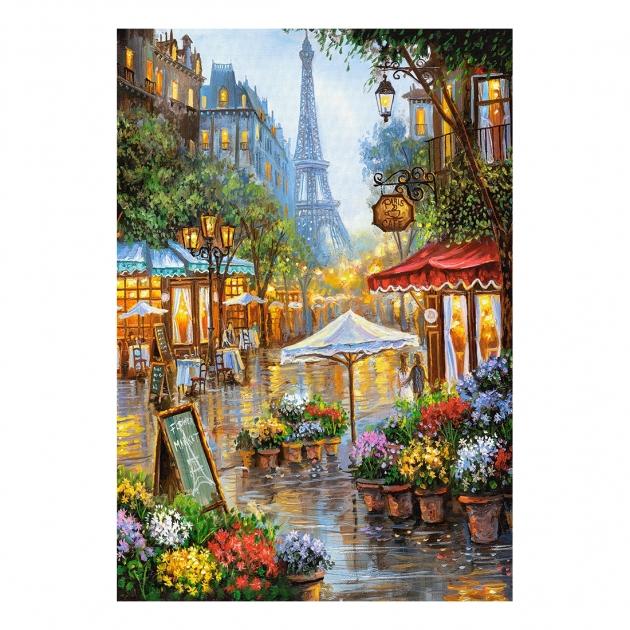 Пазл весенние цветы париж 1000 элементов Castorland Р89849