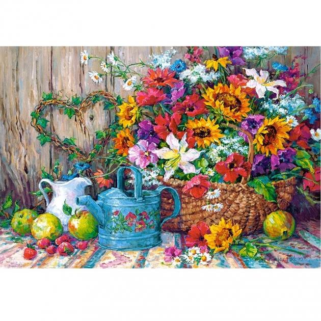 Пазл садовые цветы 1500 элементов Castorland Р92205
