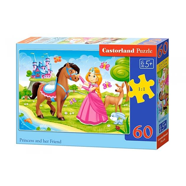 Пазл принцесса и ее друг 60 элементов Castorland Р77252