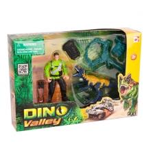 Игровой набор Chap Mei Динозавр Мегалозавр и ловец динозавров 520007-1