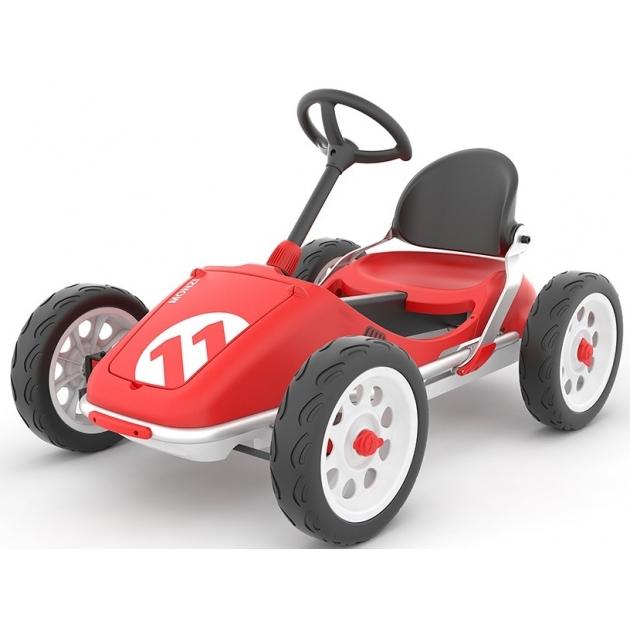 Детская педальная машинка картинг Chillafish monzi красный