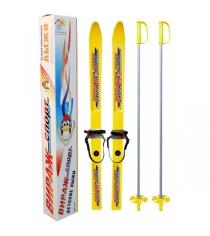 Детские лыжи вираж спорт с палками 100 см Цикл 1052-00