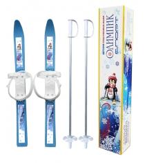 Лыжи детские с палками олимпик спорт Цикл 7078-00