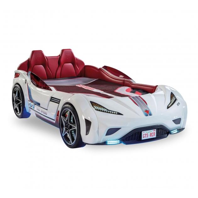 Кровать машина Cilek Carbeds GTS белая 20.02.1351.00