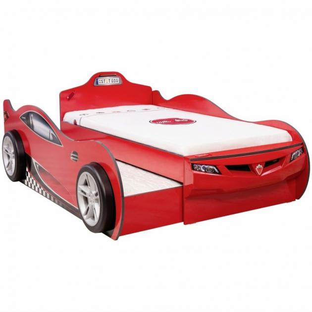 Кровать машина Cilek Coupe с выдвижным спальным местом 20.03.1306.00 красный