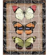 Пазл стикер самоклеющийся Color kit бабочки XD01