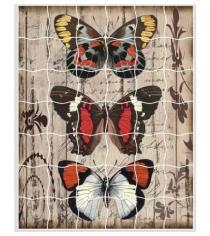 Пазл стикер самоклеющийся Color kit панно из бабочек XD02
