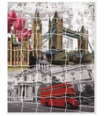 Пазл стикер самоклеющийся Color kit лондонский коллаж XD12