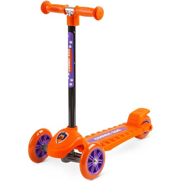Кикборд Small Rider Cosmic Zoo Galaxy светящиеся колеса оранжевый