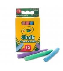 12 цветных мелков с пониженным выделением пыли Crayola 0281C