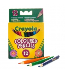 12 коротких цветных карандашей Crayola 4112