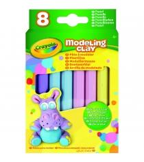Незасыхающий пластилин пастель 8 цветов Crayola 57-0311N