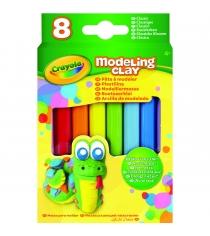 Незасыхающий пластилин классика 8 цветов Crayola 57-0312N