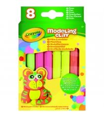 Незасыхающий пластилин неоновый 8 цветов Crayola 57-0313N