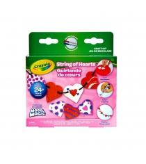 Набор волшебного застывающего пластилина Бусы из сердечек Crayola 57-2014