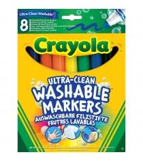 Смываемые фломастеры супер чисто с толстым наконечником 8 шт Crayola 58-8328