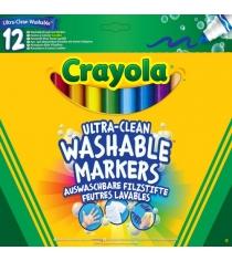 12 смываемых фломастеров супер чисто Crayola 58-8329