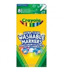 8 тонких смываемых фломастеров супер чисто Crayola 58-8330