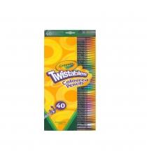 Набор для творчества 40 выкручивающихся цветных карандашей Crayola 68-7411