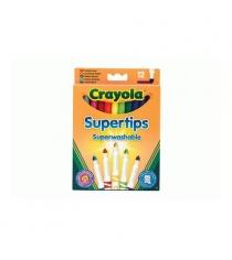 12 тонких фломастеров супертипс ярких цветов Crayola 7509