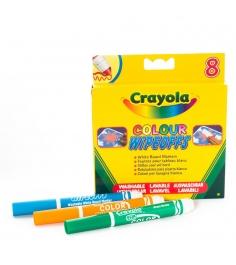 Фломастеры 8 цветов радуги для белой доски Crayola 8223...