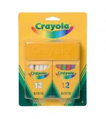 Набор белых и цветных мелков 24 шт Crayola 98268
