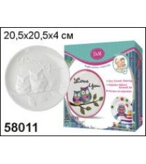 Роспись по керамике тарелка совушки Делай с мамой 58011-no...